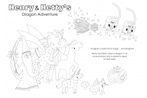Henry and Hetty's Dragon Adventure Colouring Sheet