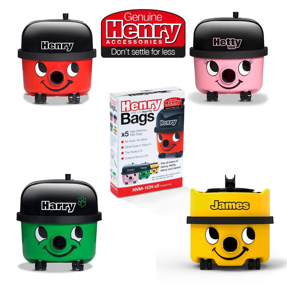 Genuine Henry Handy 5 Piece Kit 5 HepaFlo Filter Bags